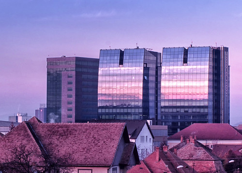 roof sunset reflection buildings twin roofs romania apus sibiu reflectie cladiri acoperis codin