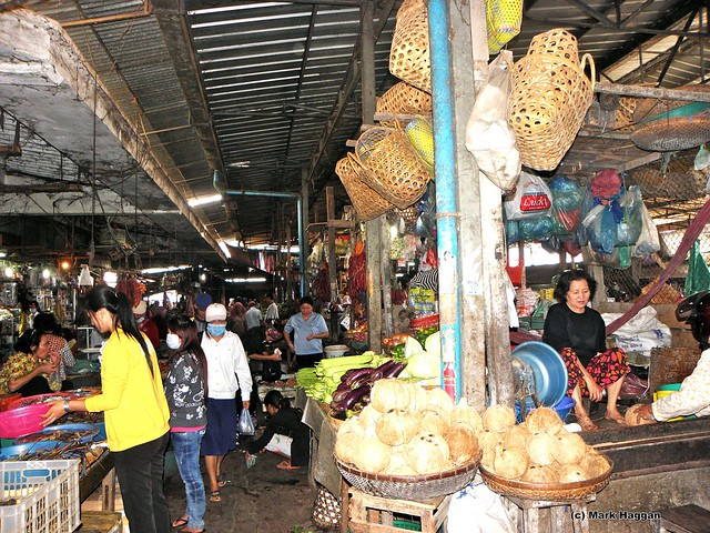 A market in Kampong Cham, Cambodia