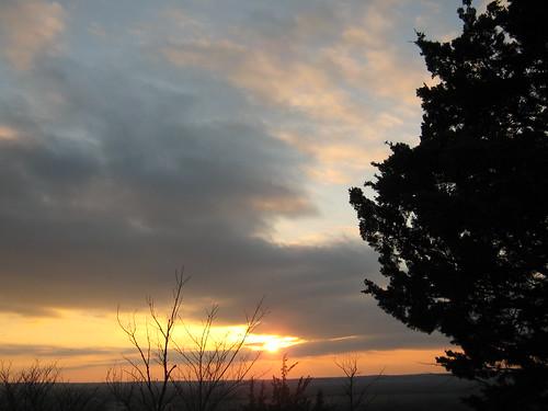 trees sunset sun clouds landscape evening twilight hills kansas mothernature fortrileysunset