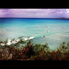 Our surf spot today! #surf #surfing #barbados #sea #caribbean