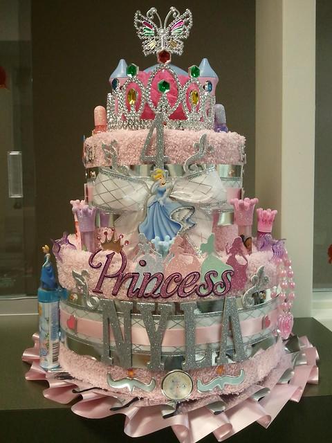 Birthday Princess Towel Cake (Cinderella)