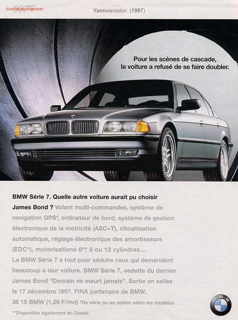 Publicité / Advertising - Bmw 750i V12 (James Bond - Tomorrow Never Dies) 1997