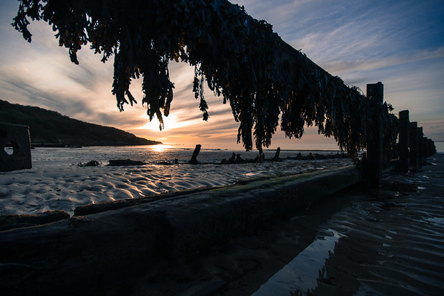 Framed Sunset at Totland Bay