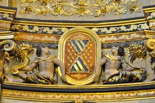 Úbeda (Jaén). Capilla del Salvador. Altar Mayor. Escudo de Mendoza