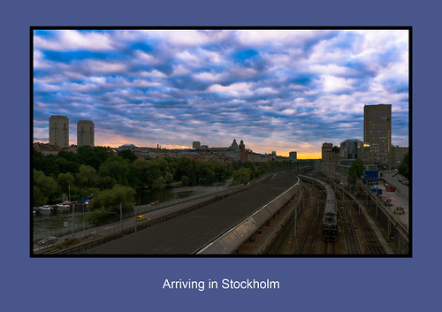 stockholm sthlm sunset evening train city sky clouds cityview sweden redfurwolf sonyalpha sal2470za