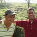 Le gérant deu jardin Namring et son assistant