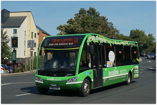 Ellie the Electric Bus, Derby Road, Nottingham