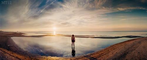 sunset summer ontario canada film beach water 35mm afternoon stitch matthew things panoramic lakehuron 2012 grandbend trevithick portfranks mamiyadsx1000 lambtonshores matthewtrevithick mtphotography