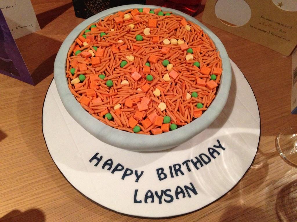 Superb Bowl Of Jollof Rice Birthday Cake Vanilla Sponge 3D Cake Flickr Birthday Cards Printable Giouspongecafe Filternl