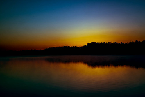 lake water sunrise unitedstates steam arkansas fayetteville fogg