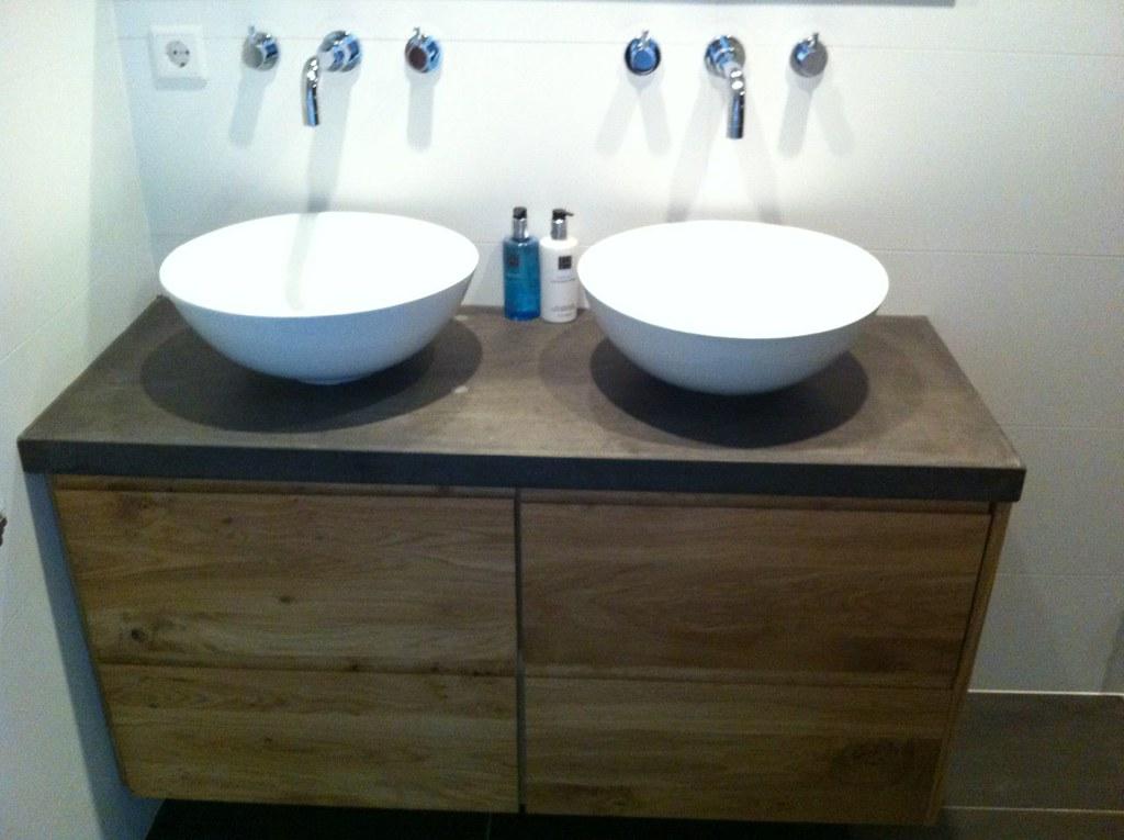 Ongekend ikea badkamer meubel met nieuwe fronten en betonnen blad | Flickr FR-65