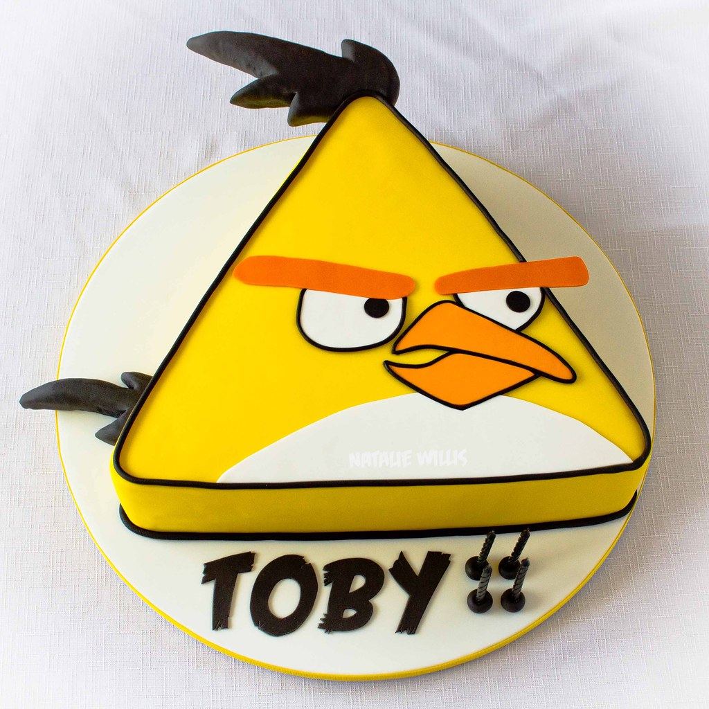 Yellow Angry Bird Cake This Was Made For The Little Boy I