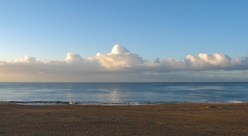 ocean california santa beach clouds sunrise dawn pacific cruz seabright fluffytufts