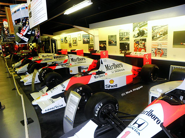 The McLaren room in The Donington Collection