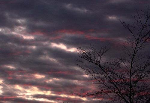 sunset silhouette clouds