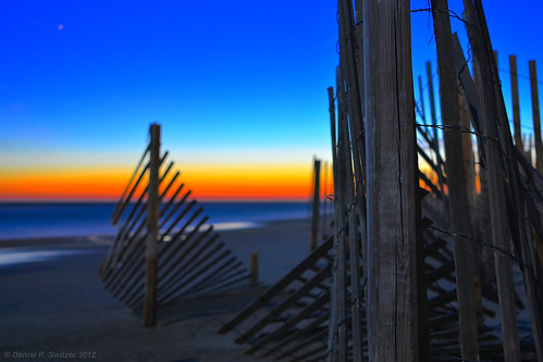 ocean sunset snow beach 35mm fence long exposure carolina emeraldisle obx sobx d3100