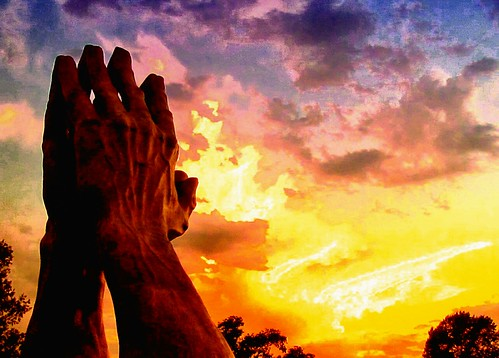sunset oklahoma statue clouds religious fire photography photo hands image god spirit preacher ministry prayer jesus picture surreal pic christian photograph christianity tulsa spiritual hdr rapture minister preach imagery evangelical revelation endofdays oralroberts mentalben