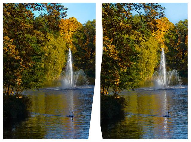 Great Garden of Dresden 3D ::: HDR Cross-View Stereoscopy