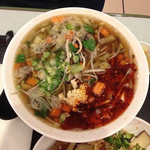 Vegetarian noodle soup from Yun Noodle House. | by PrincessPeach