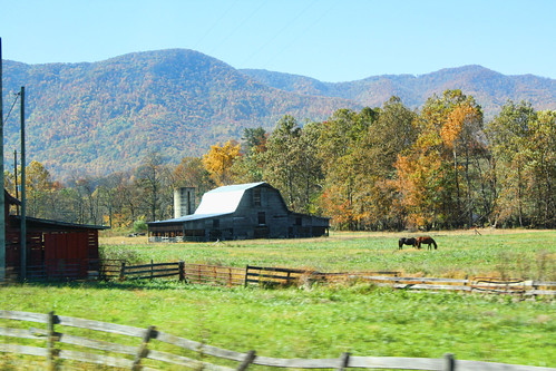 autumn mountain fall barn rural fence farm northcarolina
