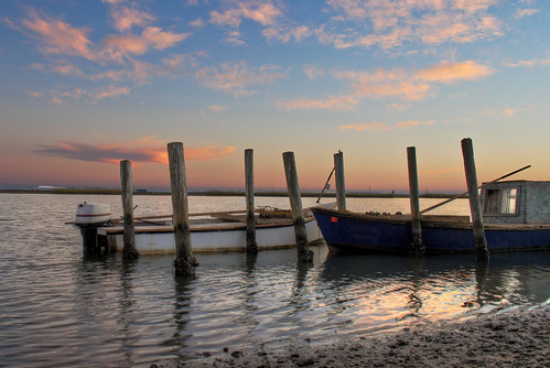 blue sunset usa color beach water clouds reflections boats fishing colorful day unitedstates florida cloudy south southern shore eastpoint apalachicola shrimpboats gulfcoast apalachicolabay theforgottencoast floridapanhandle