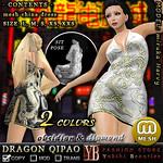 *YB* DRAGON QIPAO obsidian & diamond