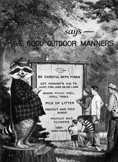 Howdy the Good Outdoor Manners Raccoon.