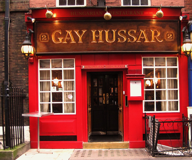 030 - The Gay Hussar, Greek Street, Soho , London, UK - 2012.
