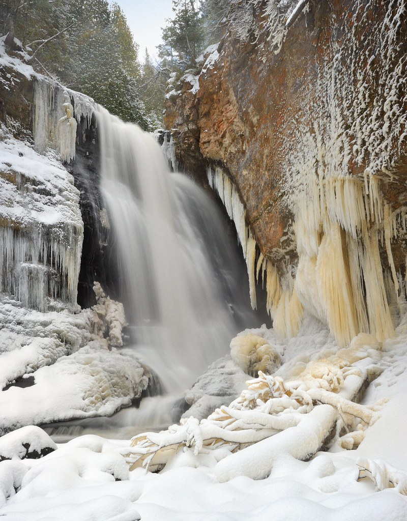 Winter At Miners Falls Pictured Rocks National Lakeshore Flickr