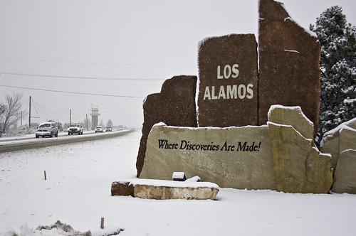 Los Alamos during snow storm