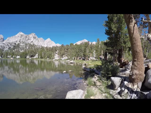 2028 Panorama video of the unnamed lake east of Matlock Lake