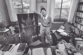 French Professor Monique Saigal in her office in 1993