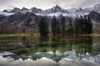 chamonix alps reflections   by mariusz kluzniak