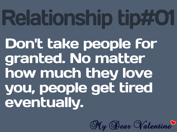 Relationship Quotes 1 Dont Take People For Granted No M Flickr