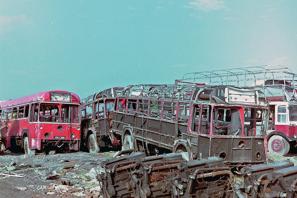 Wombwell Diesels | London Transport RF buses being scrapped.… |  Hobgoblin737 | Flickr