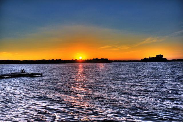 Flores GCA -  Lake Peten Itza at sunset
