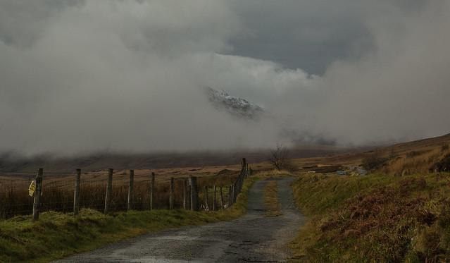 Ma na fynydd yn rhywle/There's a mountain somewhere.