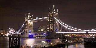 Night photo Tower Bridge, London | by britsinvade