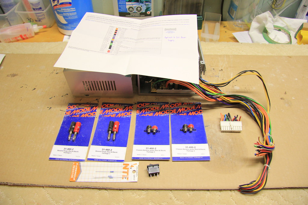 Dell 250W power supply, pinout diagram and parts   JD and Beastlet
