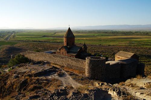 armenia armenian autumn fall church monastery morning plain plains ararat khorvirap khor virap խոր վիրապ խորվիրապ