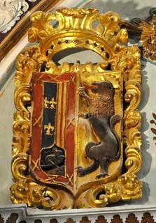 Úbeda (Jaén). Colegiata de Santa María. Escudo en la cúpula