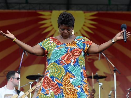 Irma Thomas at Jazz Fest 2014. Photo by Leon Morris.