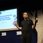 What I Learned from Johnny Bevan with Luke Wright   Luke Wright delivers a hurricane of a performance © Helen Jones