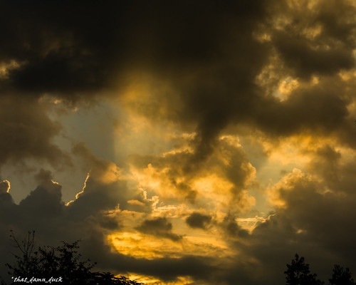 sky clouds sunrays sundown sunset nature nikon