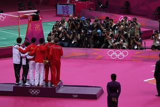 Posing For Photos, Men's Doubles Badminton Final