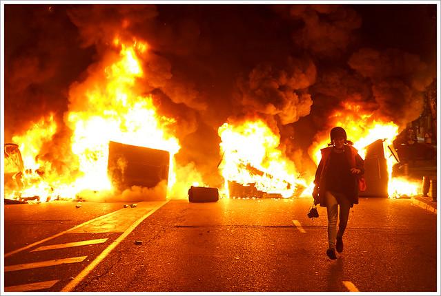 Madrid on fire