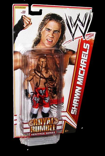 Shawn Michaels Autographed WWE Basic Mattel Series 14 Figure (Royal Rumble Heritage Series)