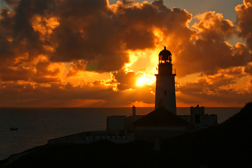 sea lighthouse sunrise douglas isleofman