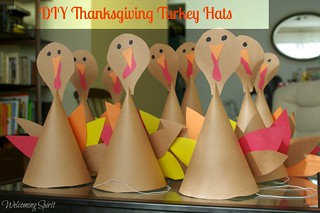 DIY Turkey hats, Thanksgiving | by WelcomingSpirit