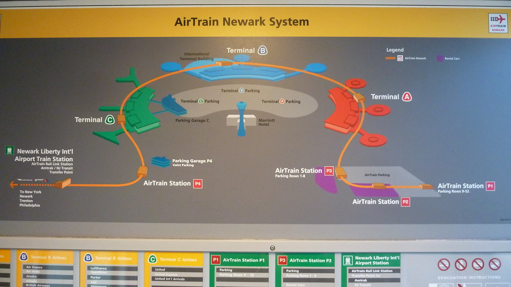 Newark Airport Airtrain Map Newark Liberty Airport EWR AirTrain Map | A.Currell | Flickr